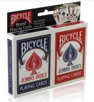 Bicycle - Rider Back, jumbo index póker kártya, dupla