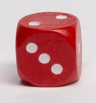 Dobókocka 1-2-3 piros