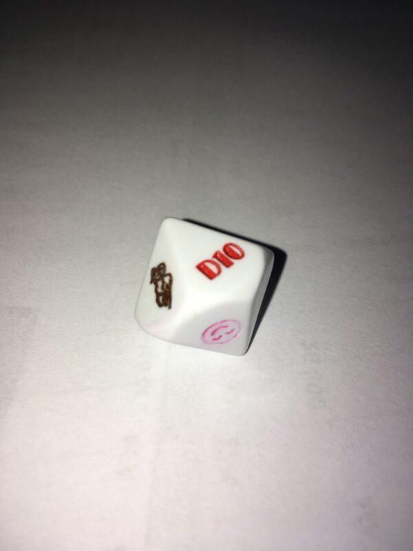 Egyedi dobókocka 10 oldalú festett