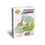 Felhúzható 3D puzzle - zsiráf