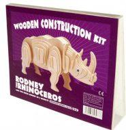 Professor Puzzle - 3D fa építő szett - Rodney Rinocérosz