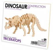 Professor Puzzle - 3D fa építő szett - Triceratops