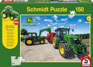 Schmidt Puzzle 5M típusú tractorok, 150 db + SIKU Traktor model