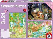 Schmidt Puzzle - Az erdő állatai 3x24 db puzzle