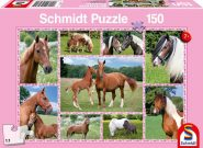 Schmidt Puzzle - Beautiful Horses, 150 db puzzle