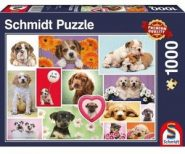 Schmidt Puzzle - Friends on four paws, 1000 db
