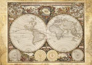 Schmidt Puzzle - Historical map of the world 2000 db