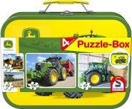 Schmidt Puzzle - John Deere, 2x60, 2x100 db, Fém kofferrel