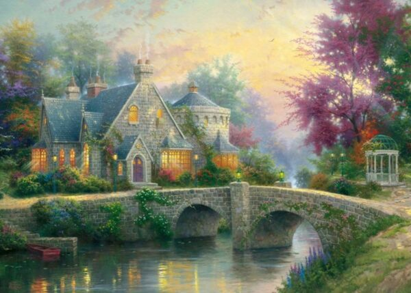 Schmidt Puzzle - Lamplight Manor, Thomas Kinkade, 3000 db