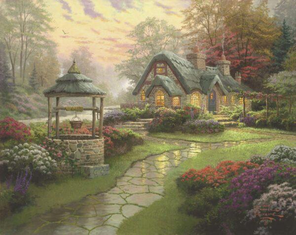 Schmidt Puzzle Make a Wish Cottage Thomas Kinkade 1000 db