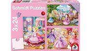 Schmidt Puzzle - Mesebeli hercegnők, 3x24 db puzzle