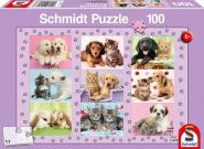 Schmidt Puzzle - My Animal Friends, 100 db puzzle