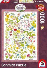 Schmidt Puzzle - Wild Flowers, 1000 db