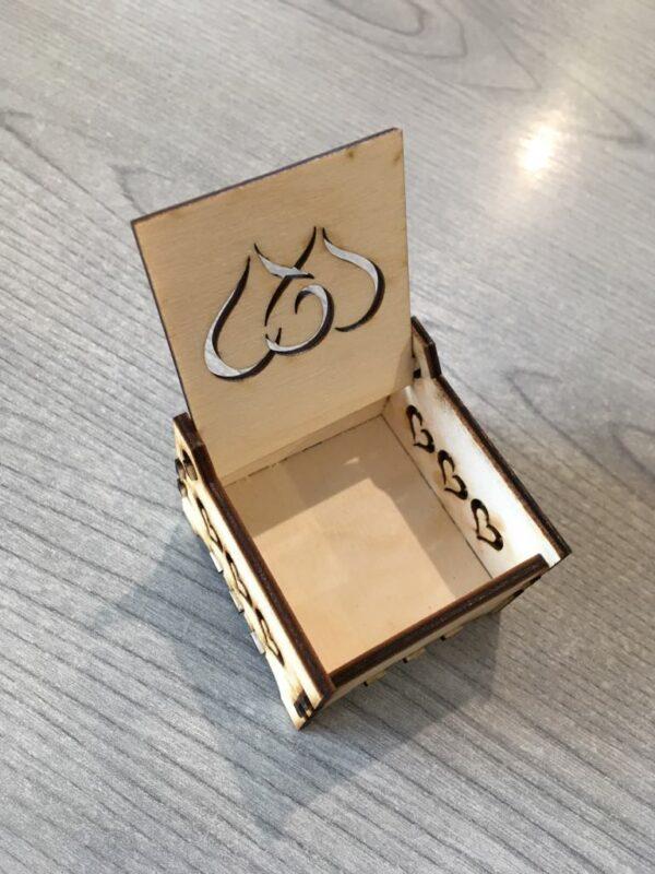 Gyűrű tartó doboz szívekkel