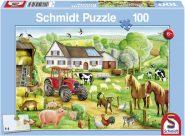 Schmidt Puzzle - Vidám tanya, 100 db