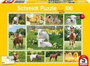 Schmidt Puzzle - Kicsi háziállatok, 100 db