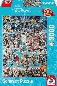 Schmidt Puzzle - Renato Casaro: Hollywood XXL, 3000 db