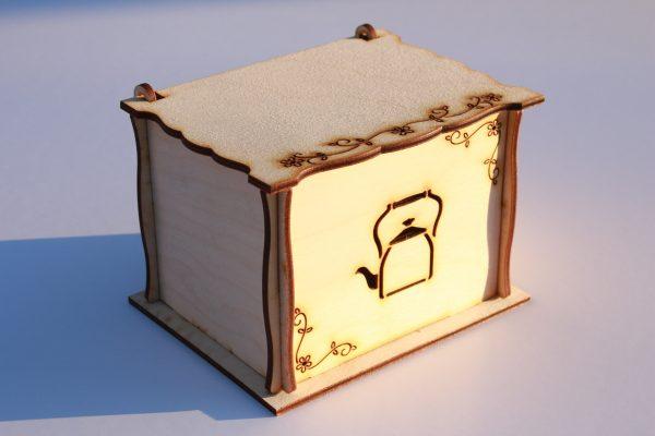 Tea tartó doboz