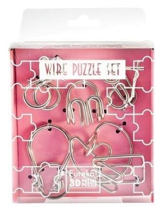 Mini Wire Puzzle szett - Rózsaszín