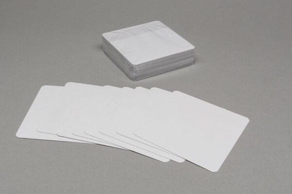 Üres négyzet alakú 55 lapos kártyacsomag