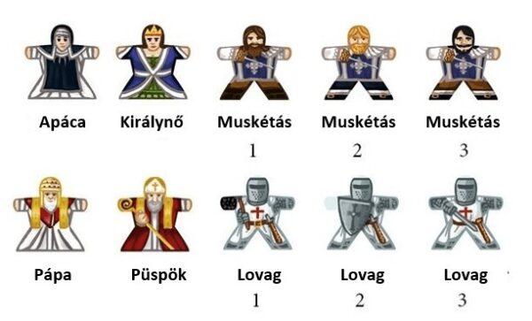 középkor matrica