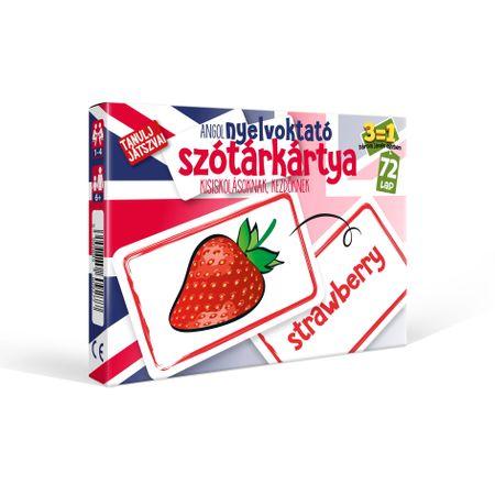 Nyelvoktató szótár kártya Angol társasjáték