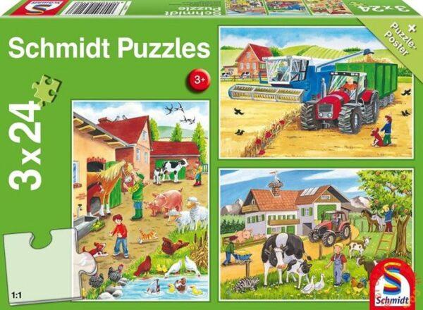 Schmidt Puzzle-A farmon, 3x24 db