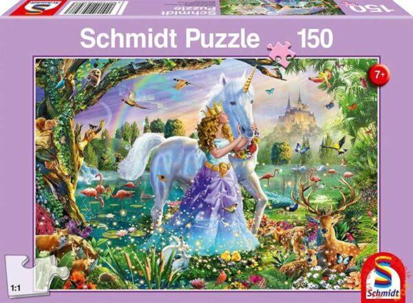 Schmidt Puzzle-Princess, unicorn and castle, 150 db