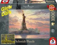 Puzzle Schmidt Puzzle – Statue of Liberty in the twilight, Glow in the Dark 1000 db sötétben világít