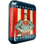 Kártyák DC – Superman römi kártya – Fémdobozban