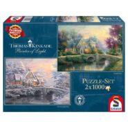 Schmidt Puzzle – Lamplight Manour/Winter in Lamplight Manour, 2x1000 db