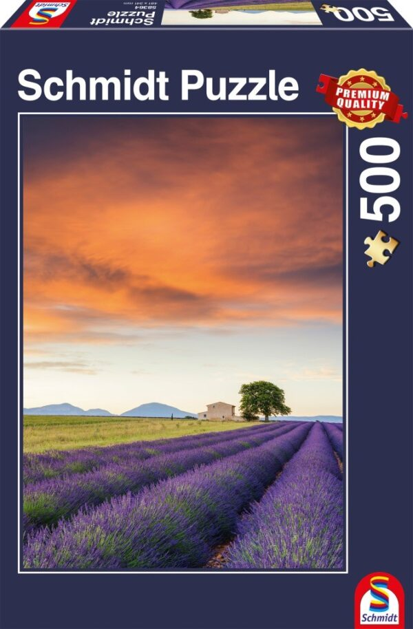 Schmidt Puzzle – Field of lavender, Provence 500 db