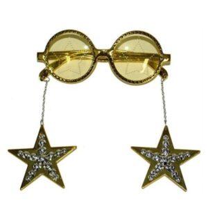 Party szemüveg csillagokkal - sárga