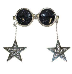 Party szemüveg csillagokkal - fekete