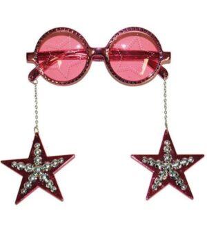 Party szemüveg csillagokkal - rózsaszín
