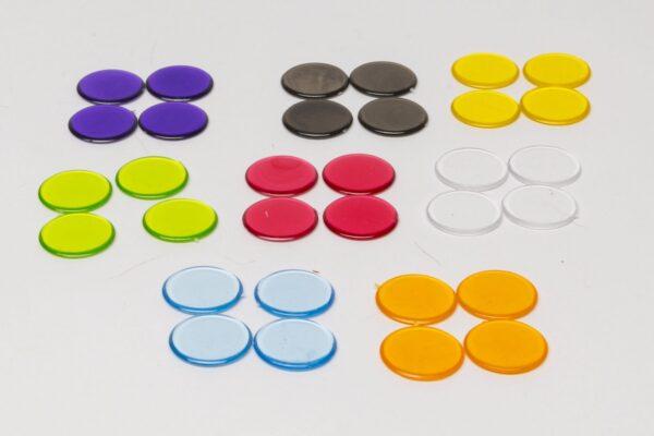 Műanyag zseton 15 mm - Áttetsző
