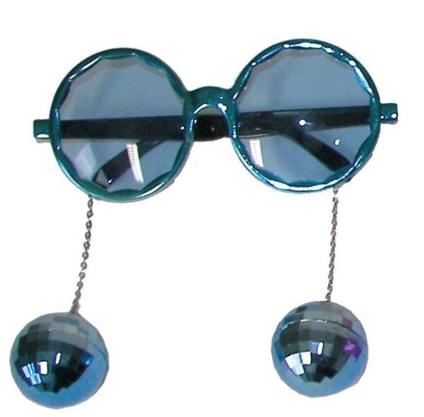 Party szemüveg disco gömbbel - kék