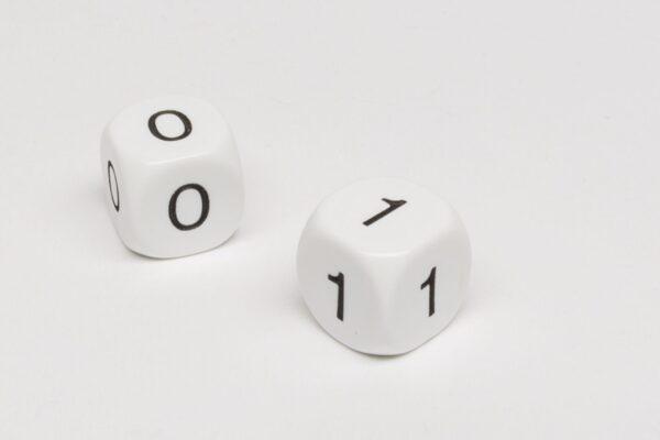 Dobókocka - Bináris 0-0-0-1-1-1