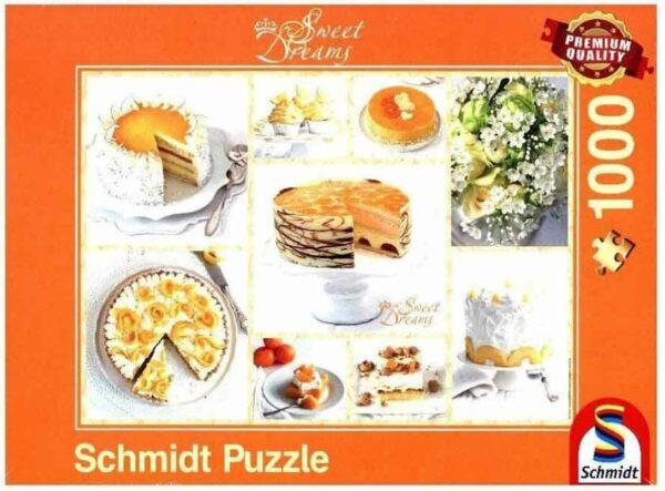 Schmidt Puzzle Strahlend gelbe Kaffeetafel 1000 db
