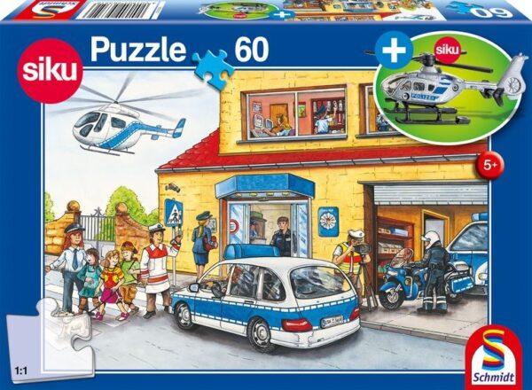 Schmidt Puzzle Police helicopter, 60 db (ajándék helikopterrel)