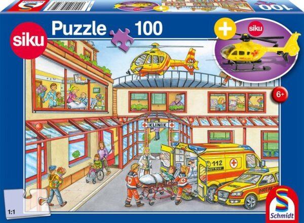 Schmidt Puzzle Mentő helikopter 100 db (ajándék helikopterrel)