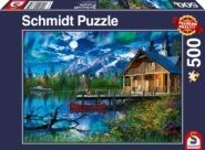 Puzzle Schmidt Puzzle – Mountain lake in the moonlight, 500 db