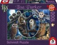 Puzzle Schmidt Puzzle – Mysterious owls, 1000 db