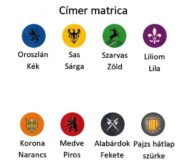 Játékalkatrészek Címer matrica