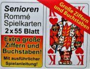 Kártyák Römi kártya 2×55 lapos nagy indees