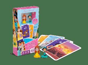 Disney Hercegnők kártya+figurák verseny társasjáték