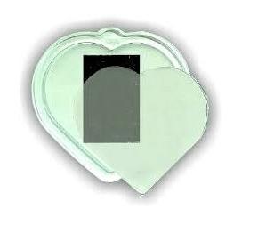 Fénykép tartós hűtőmágnes szív formával 50x50 mm