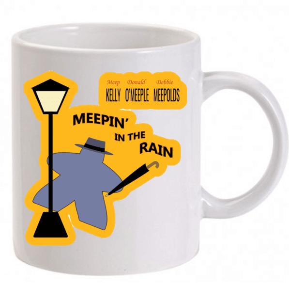 Bögre Meeple az esőben