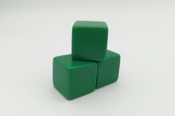 Dobókocka üres 6 oldalú 18mm zöld