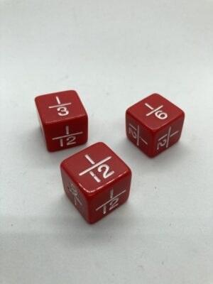Dobókocka törtek 3-6-12